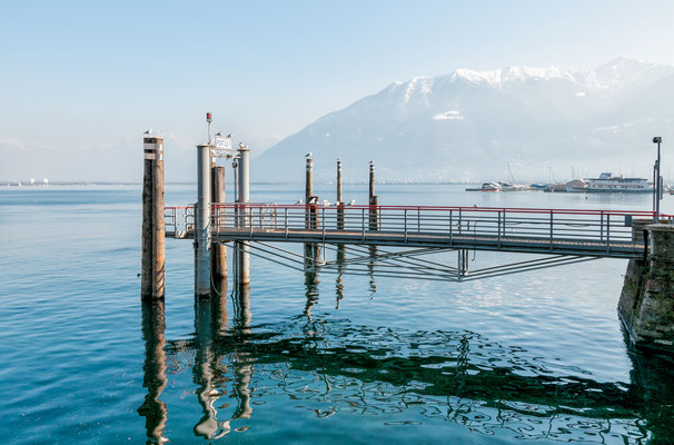 Pier on lake Maggiore, Locarno, Switzerland - Copyright elesi