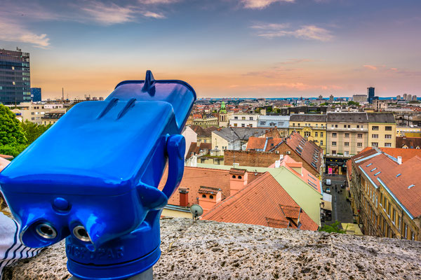 Aerial view on Zagreb cityscape from upper town famous viewpoint - Copyright Dreamer4787