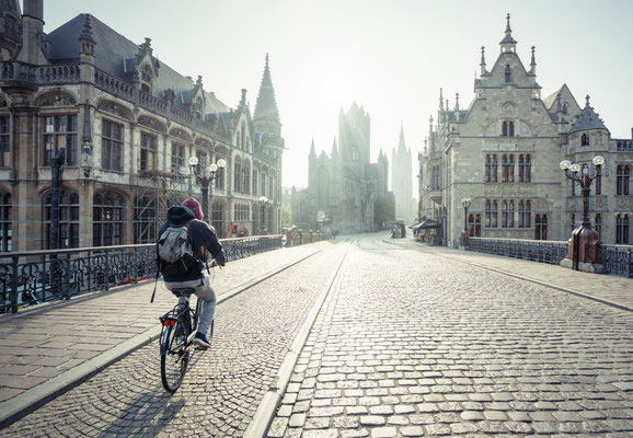 Ghent historical center copyright  Iakov Kalinin