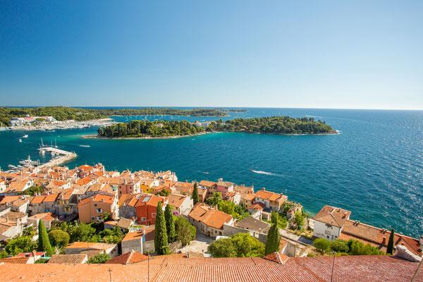 Aerial view of Rovinj, Istria, Croatia. - Copyright Florian Augustin