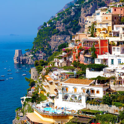 Positano on Amalfi Coast near Sorrento, Italy - Copyright ronnybas