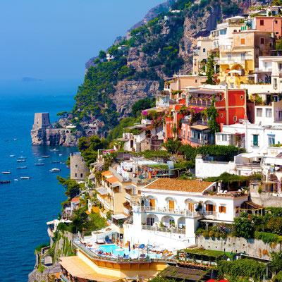 Positano on Amalfi Coast near Sorrento, Italy - Copyright ronnybas