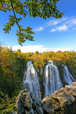 Plitvice Lakes in Croatia - national park in autumn - Copyright stjepann