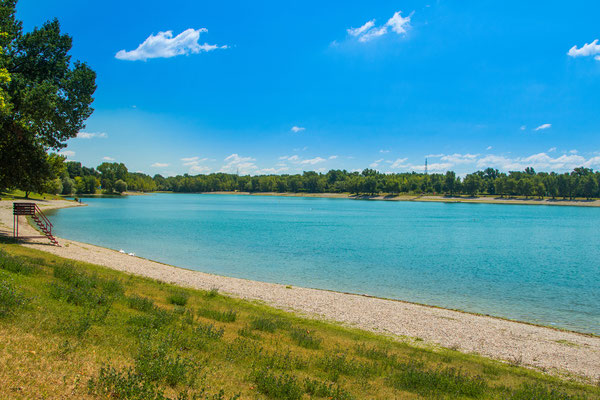 Beautiful Jarun lake in Zagreb on a sunny summer day - Copyright iascic