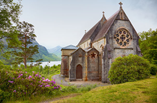 Catholic church of St. Maty & St. Finnan in Glenfinnan Copyright Serg Zastavkin