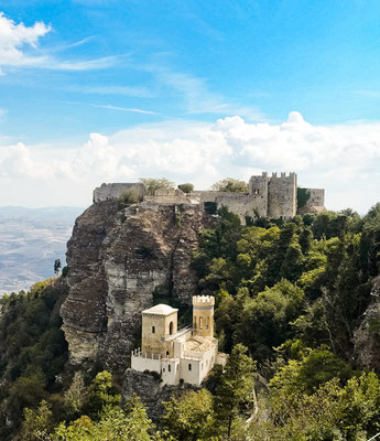 Sicily - European Best Destinations - Castle Erice in Italy - Copyright  Arcanion