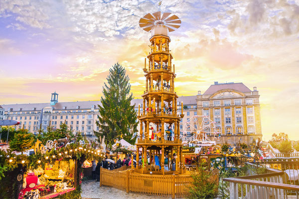 Christmas market Striezelmarkt in Dresden, Germany - By MarinaDa