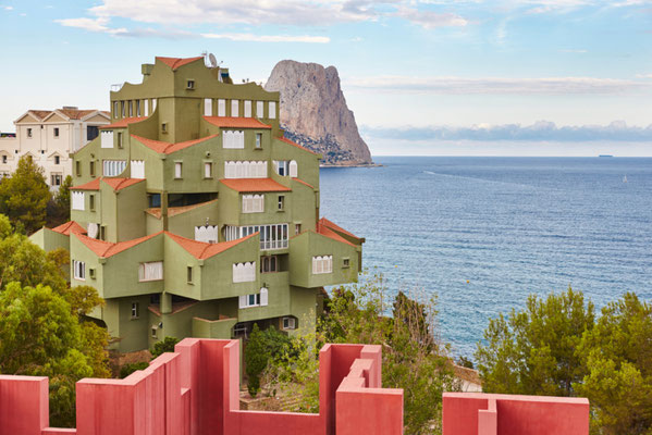 Calpe European Best Destinations - Best Destinations to visit in Spain - Calpe La Manzanera pink and green building copyright  ABB Photo