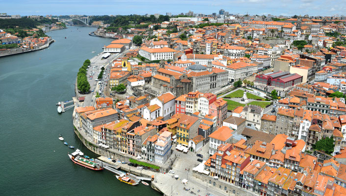 Aerial view of Ribeira and Miragaia, Portugal © European Best Destinations
