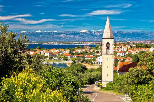 Sutomscica village and Zadar channel view, Island of Ugljan, Croatia - Copyright xbrchx