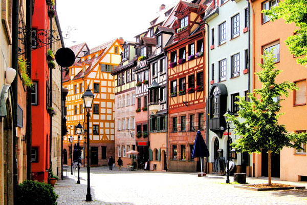 Half-timbered houses of the Old Town, Nuremberg, Germany Copyright JeniFoto