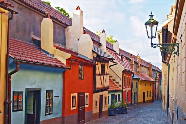 Golden Lane, Prague castle, Czech republic Copyright abxyz