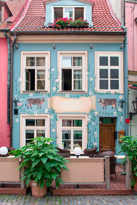 Old Cafeteria building exterior in Riga, Latvia Copyright Teemu Tretjakov