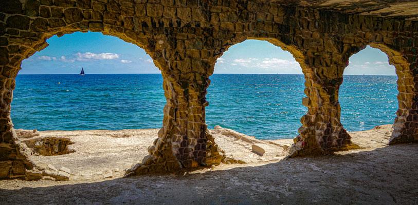 Calpe European Best Destinations - Best Destinations to visit in Spain - Sailboat window in Calpe copyright Ekaterina McClaud