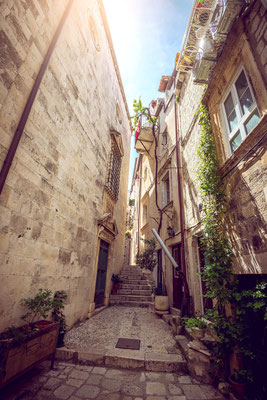 Narrow streets of Dubrovnik, Croatia - Copyright Ajan Alen