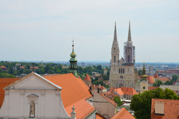 View of Zagreb from the Lotrscak Tower - Copyright European Best Destinations