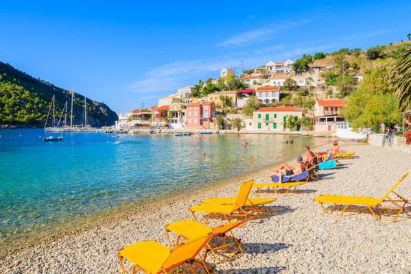 Assos beach, Kefalonia island, Greece - Copyright Pawel Kazmierczak