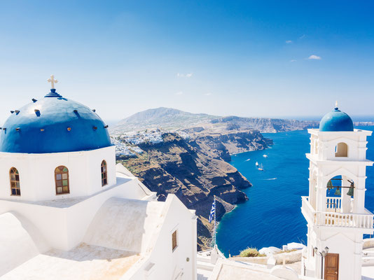 Blue dome in Santorini - Copyright Aetherial Images - Santorini European Best Destinations