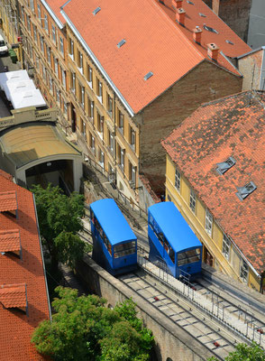 View of the Funicular of Zagreb from the Lotrscak Tower - Copyright European Best Destinations