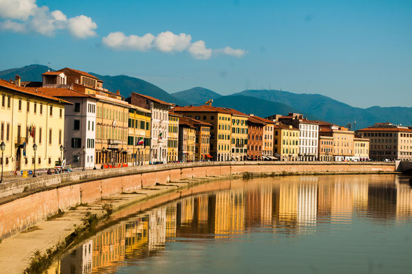 View of the medieval town of Pisa, Italy - Copyright DrimaFilm