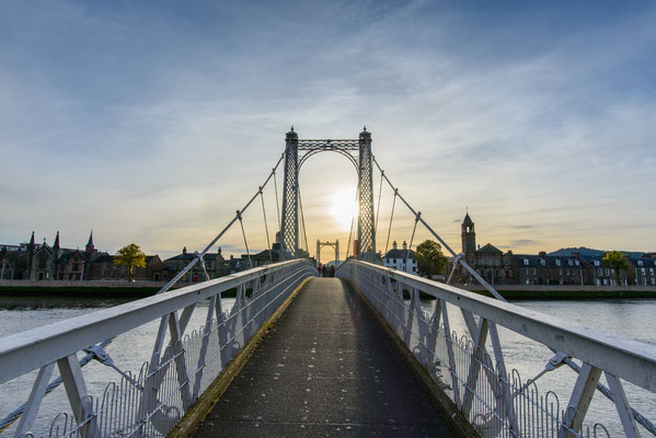 Sunset at Greig Street Bridge in Inverness, Highland, Scotland Copyright chubable
