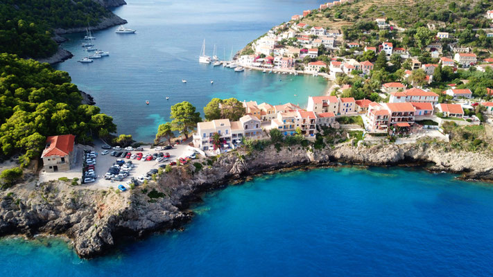 Assos, Kefalonia island, Greece - Copyright Aerial-motion
