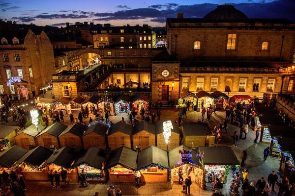 Bath Christmas Market - Best Christmas Markets in the UK - Copyright Bath Tourism Plus / bathchristmasmarket.co.uk