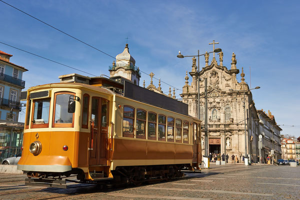 Historical tram of Porto by S-F