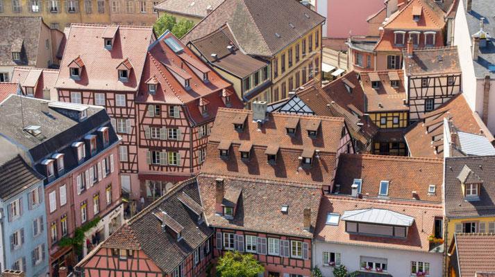Colmar - Vue aérienne - Copyright Colmar Tourisme