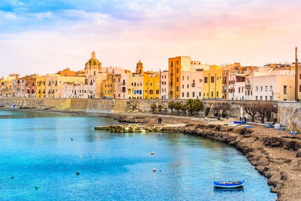 Sicily - European Best Destinations - Trapani Harbor in Sicily Copyright leonori