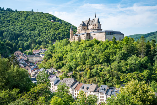 Vianden castle and valley in Luxembourg Copyright NaughtyNut