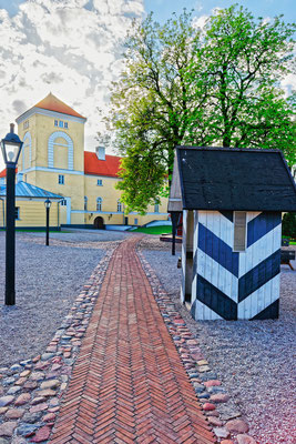 Ventspils Castle built by the Livonian Order in Latvia by Roman Babakin