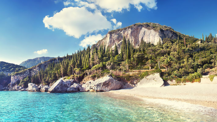 Corfu - European Best Destinations - Beach and mountains of Corfu - Copyright  Viridi