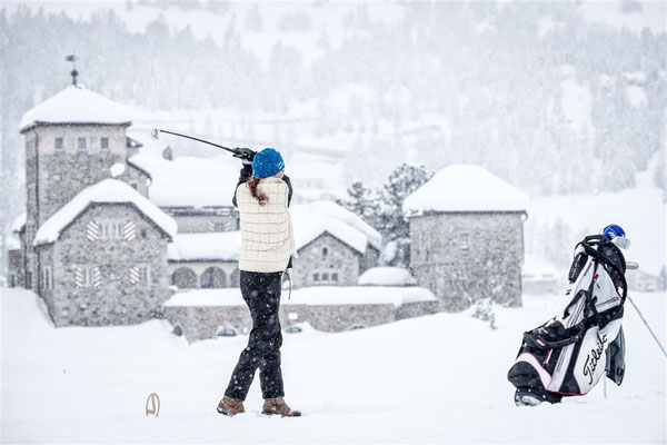 ENGADIN St. Moritz - Copyright Engadin Snow Golf Cup - Signature Marc van Swoll