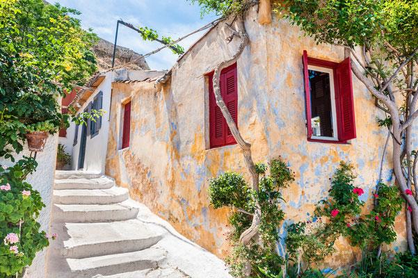 Beautiful ancient street in Athens, Greece. Copyright Olga Gabrilova