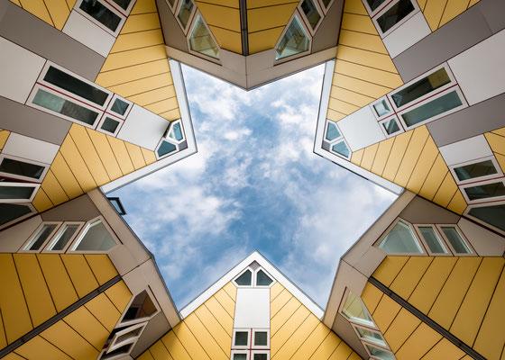Cube houses in Rotterdam, Netherlands - Copyright Loredana Cirstea