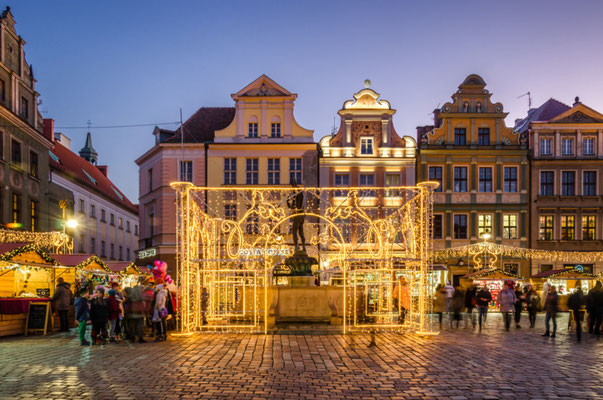 Best Christmas City Breaks in Europe - Poznan Christmas Market - Copyright Wojciech Wrzesien - Shutterstock