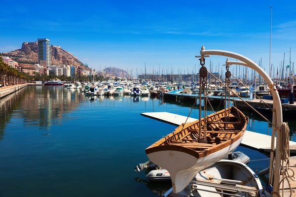 The port of Alicante, Spain by Iakov Filimonov