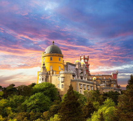 Panorama of Pena National Palace in Sintra, Portugal - Copyright Taiga