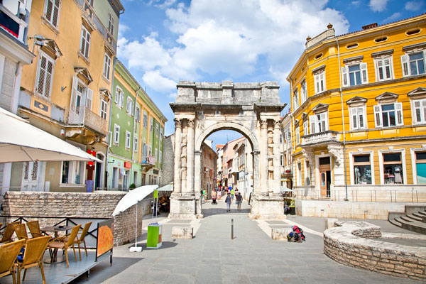 Golden Roman Gate in Pula by Aleksandar Todorovic