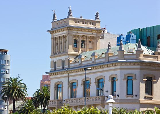 Building facade of bank on Gijon,Spain - Copyright AdrianNunez