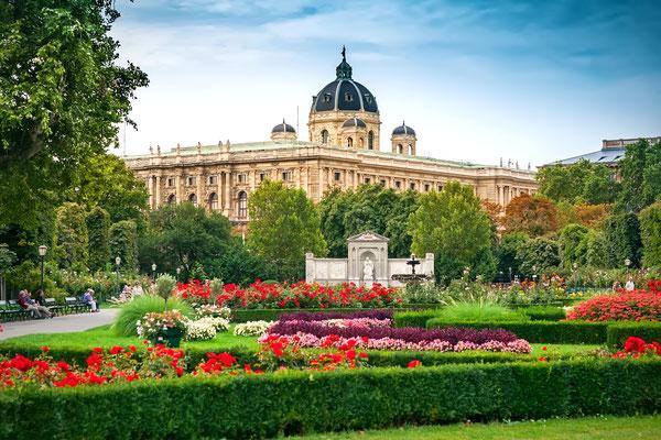 The Volksgarten (People's Garden) in Vienna, Austria Copyright Mariia Golovianko