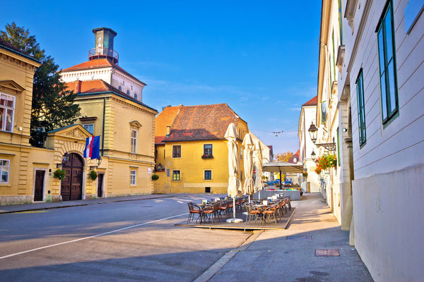Zagreb upper town historic architecture, capital of Croatia - Copyright xbrchx