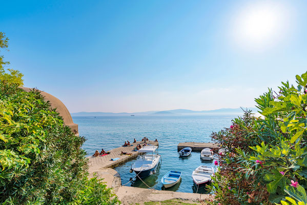 View of a pier with boats on sunny day in Zadar - Copyright asiastock