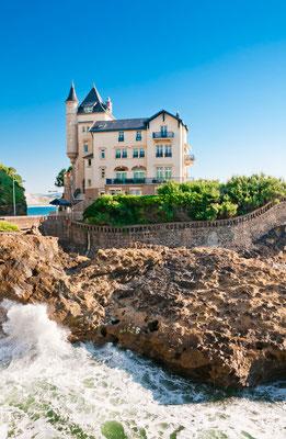 Elegant old house on the cliff in Biarritz, France Copyright Alexander Demyanenko