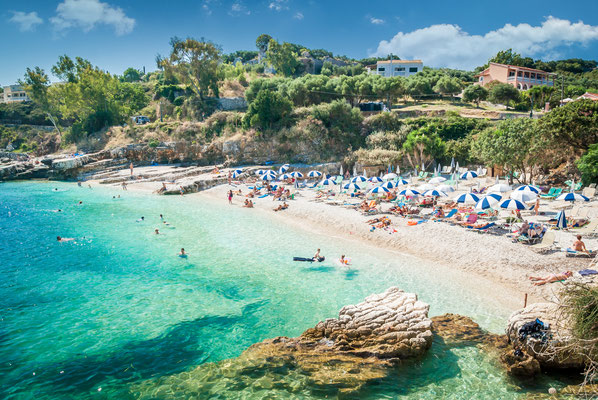 Corfu - European Best Destinations - Kassiopi beach in Corfu Copyright Lucian BOLCA