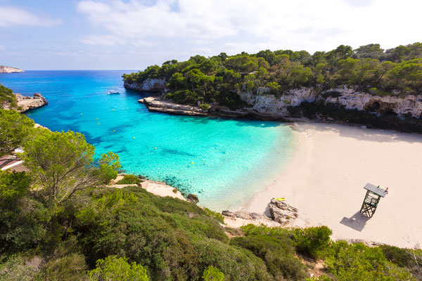 Majorca Cala Llombards Santanyi beach in Mallorca Balearic Island of Spain by holbox