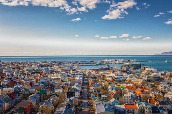 City of Reykjavik from above, Capital of Iceland Copyright SvedOliver