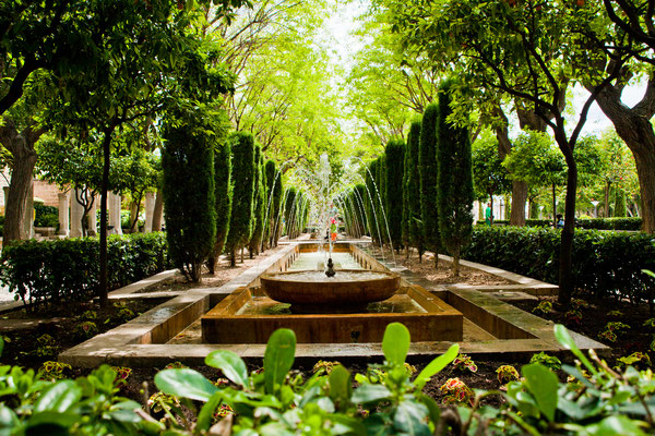 Mallorca park near the Cathedral by Bato13