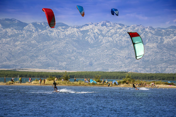 Kiteboarding in Nin, Croatia - Copyright Ivan Smuk